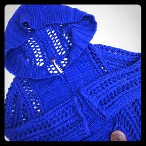 FREE PEOPLE Sz Small Blue Knit Sweater